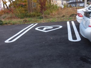 ハートの駐車場